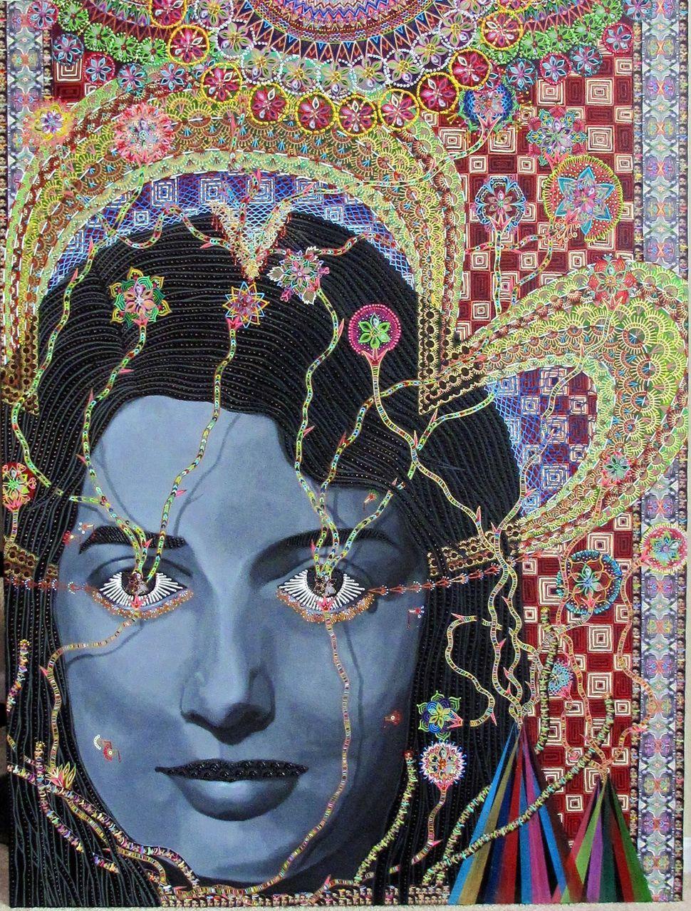 Les femmes D'Alger #14, 48x36 inches, 2011