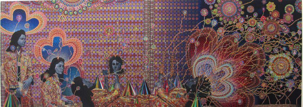 Les Femmes D Alger #16, 60x168 inches, 2012