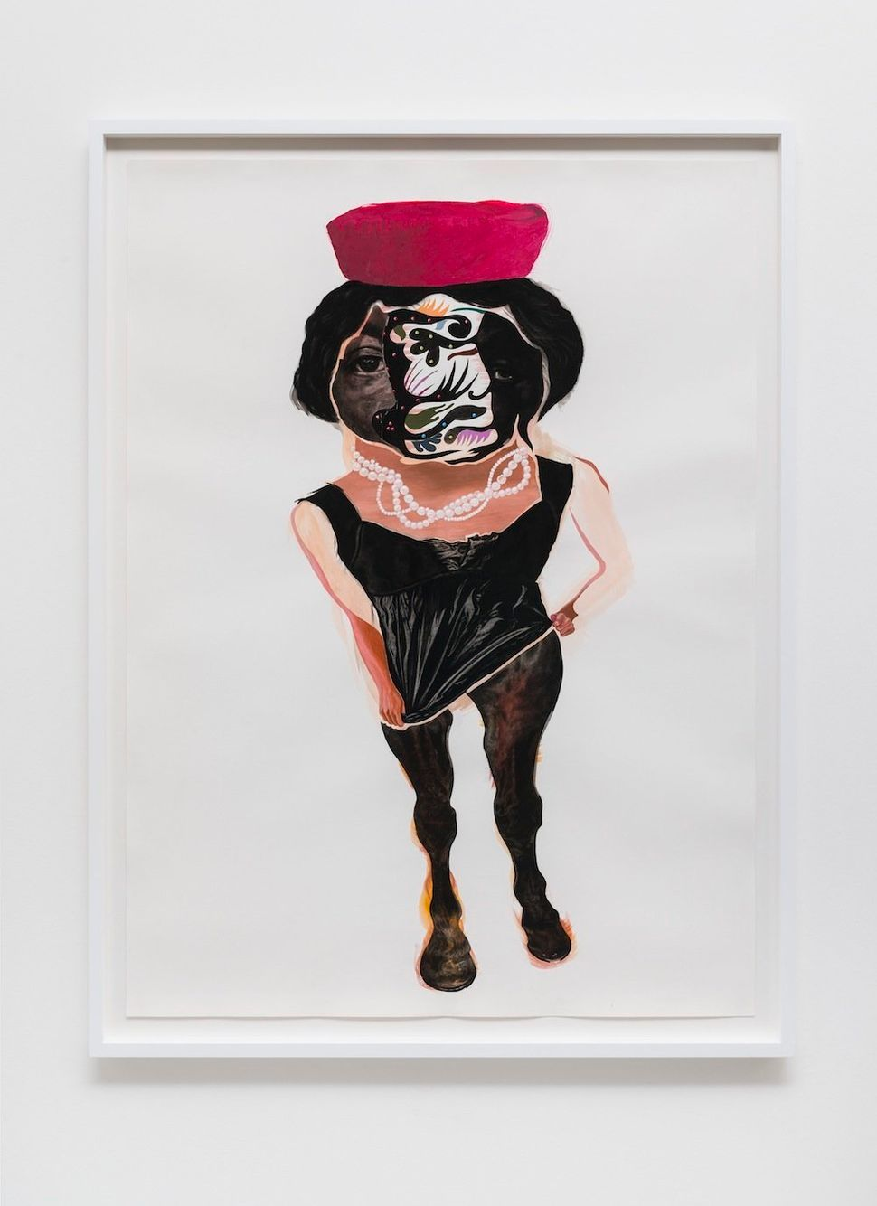 """Sister Odell, 2014 black charcoal, oil-pastel, oil-paint, paint-stick, gouache on Lenox Paper 152.4 cm x 111.8 cm (60"""" x 44"""")"""