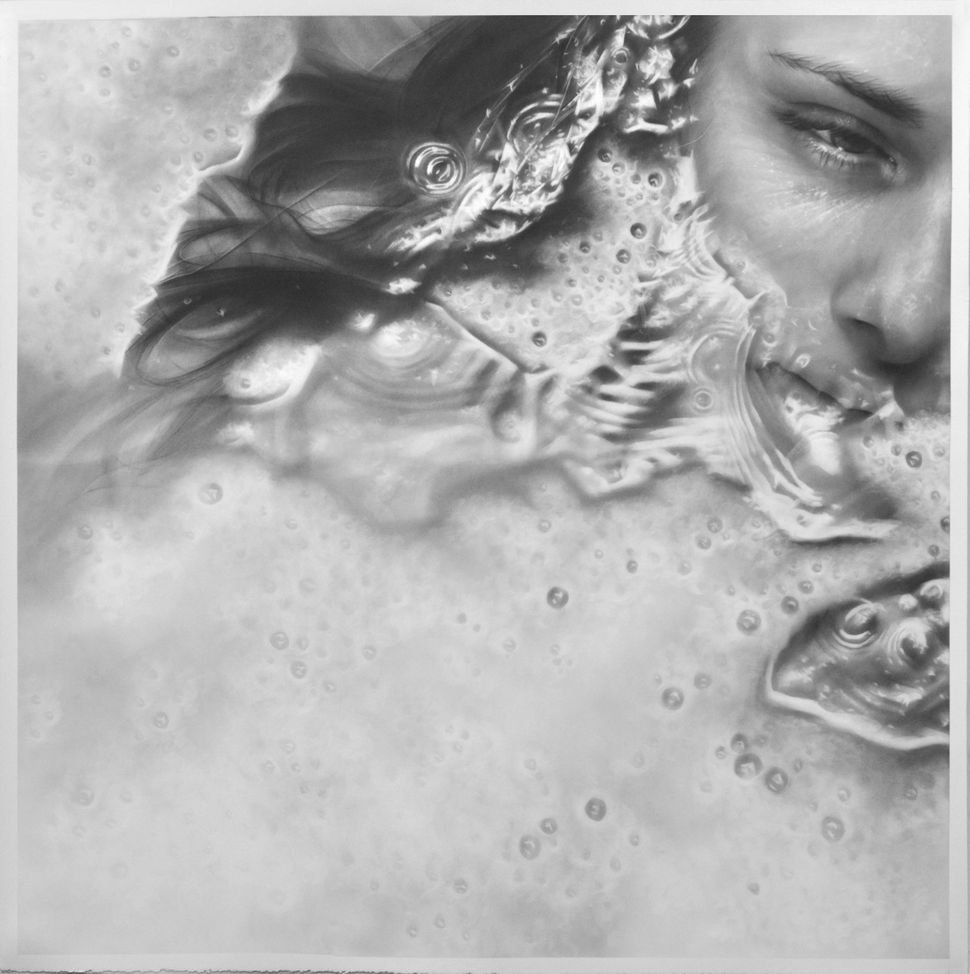 """Drift"", 50"" x 50"", graphite on paper"