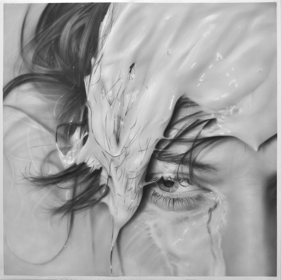 """Washed Out"" 50"" x 50"", graphite on paper, 2012"