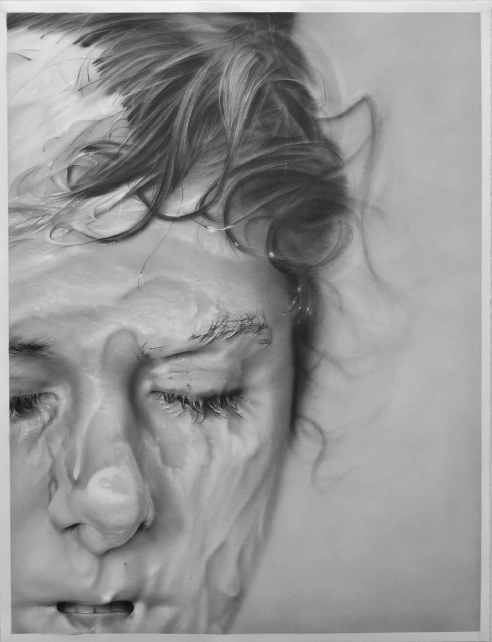 """Slathered"", 50"" x 38"", graphite on paper, 2012"