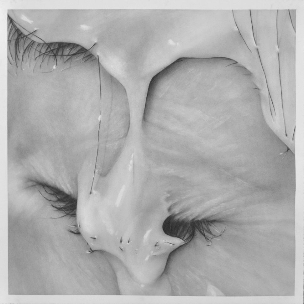 """Trickle"", 24"" x 24"", graphite on paper"