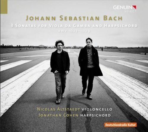 Bach 3 Gamba Sonatas. Nicholas Altstaedt, cello. Jonathan Cohen, harpsichord. Genuin CD By Laurence Vittes <br>  In 2010, cel