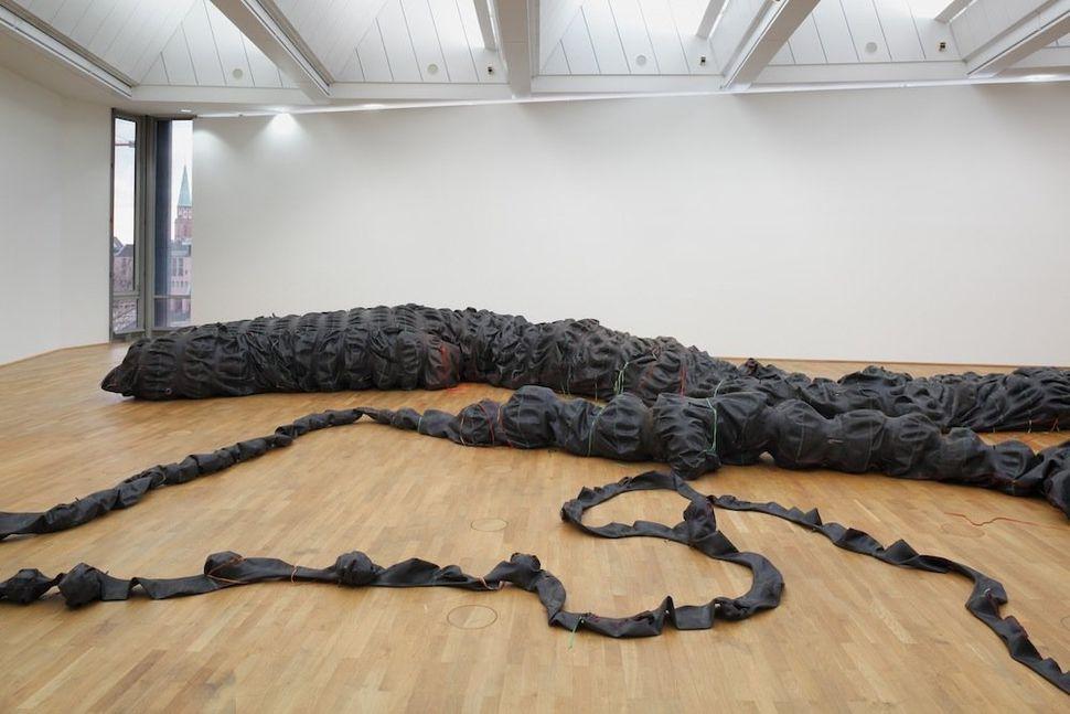Nicholas Hlobo, Tyaphaka, 2012. Courtesy of the Artist and Stevenson Gallery, Cape Town.