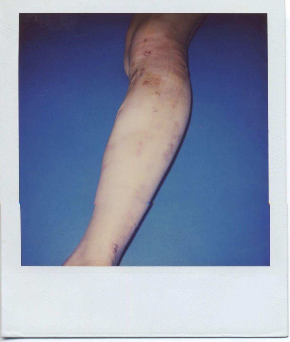 BREYER P-ORRIDGE You're So Vein, 2000 Polaroid 4 x 4 inches 16.75 x 14.75 inches framed Unique