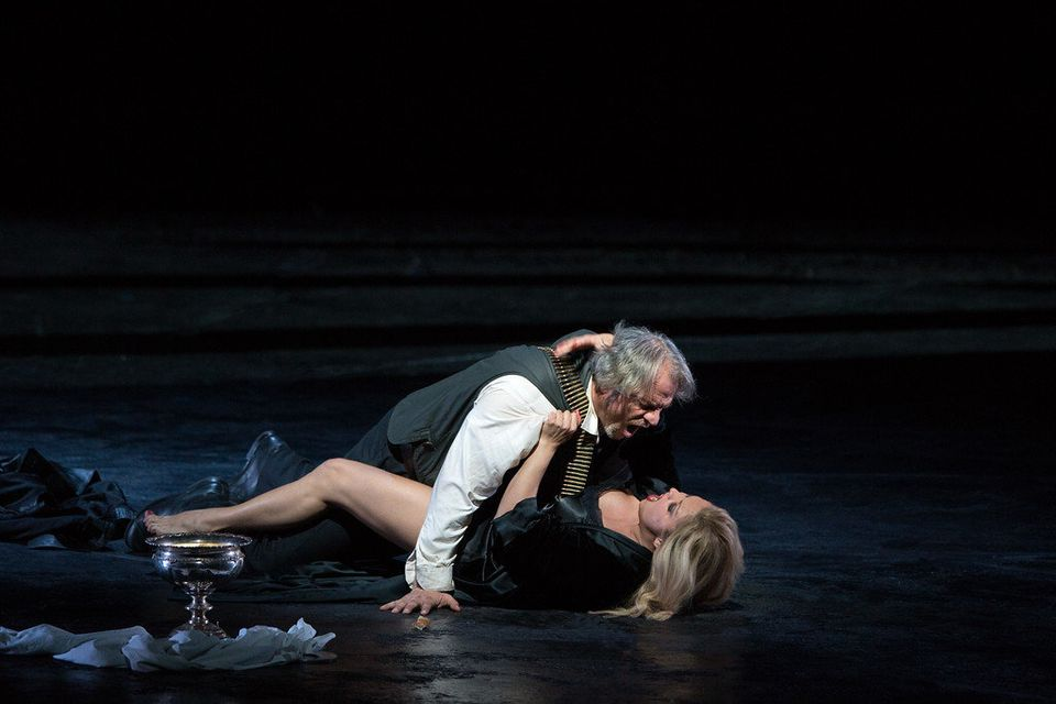 Anna Netrebko as Lady Macbeth and Željko Lučić in the title role of Verdi's Macbeth, opening September 24 at the Metropolitan