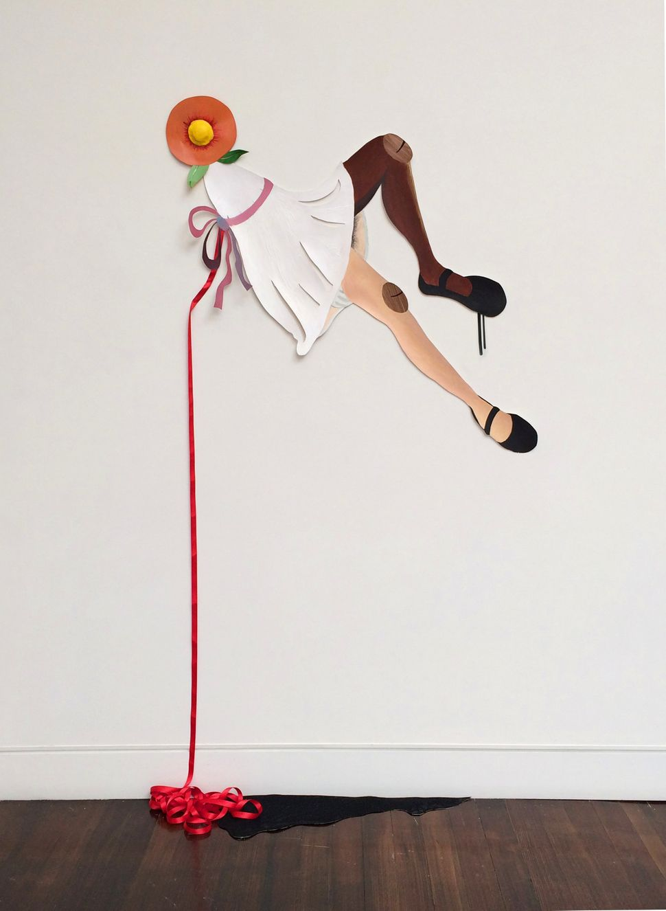 Alexandria Smith The Ecstasy or Colloquial Transverberations 2014 Mixed media installation on paper 48 x 48 inches
