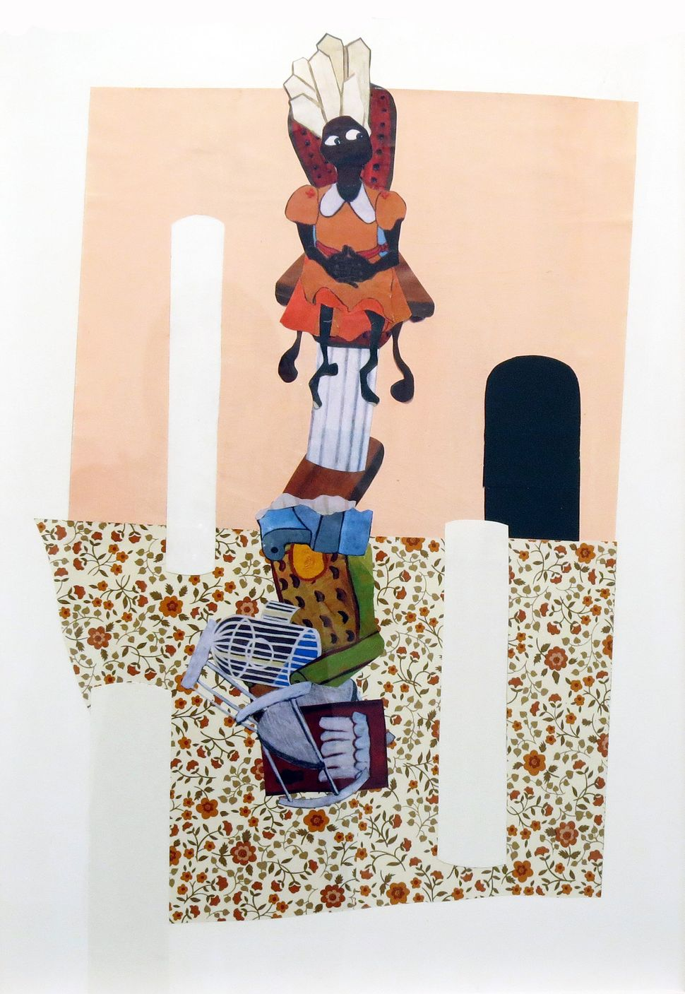 Alexandria Smith As Above, So Below, 2013 Collage on board 18 x 26 inches