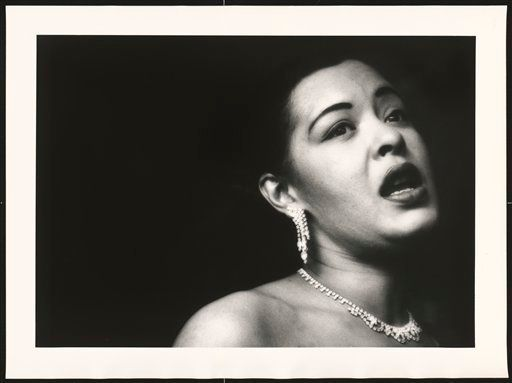 This handout photo provided by the National Portrait Gallery, taken in 1951, shows Billie Holiday, by Bob Willoughby. Curator