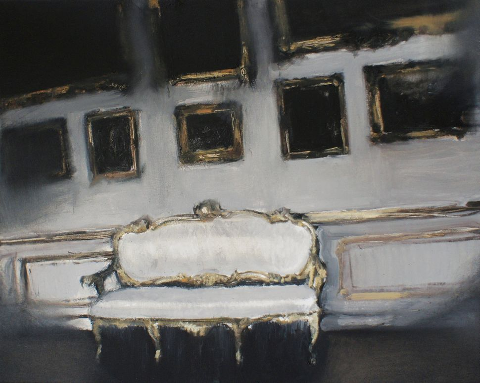 Lukasz Stoklosa (b. 1986, Kalwaria Zebrzydowska, Poland. Lives and works in Krakow, Poland) Sanssouci, 2012, oil on canvas, 4