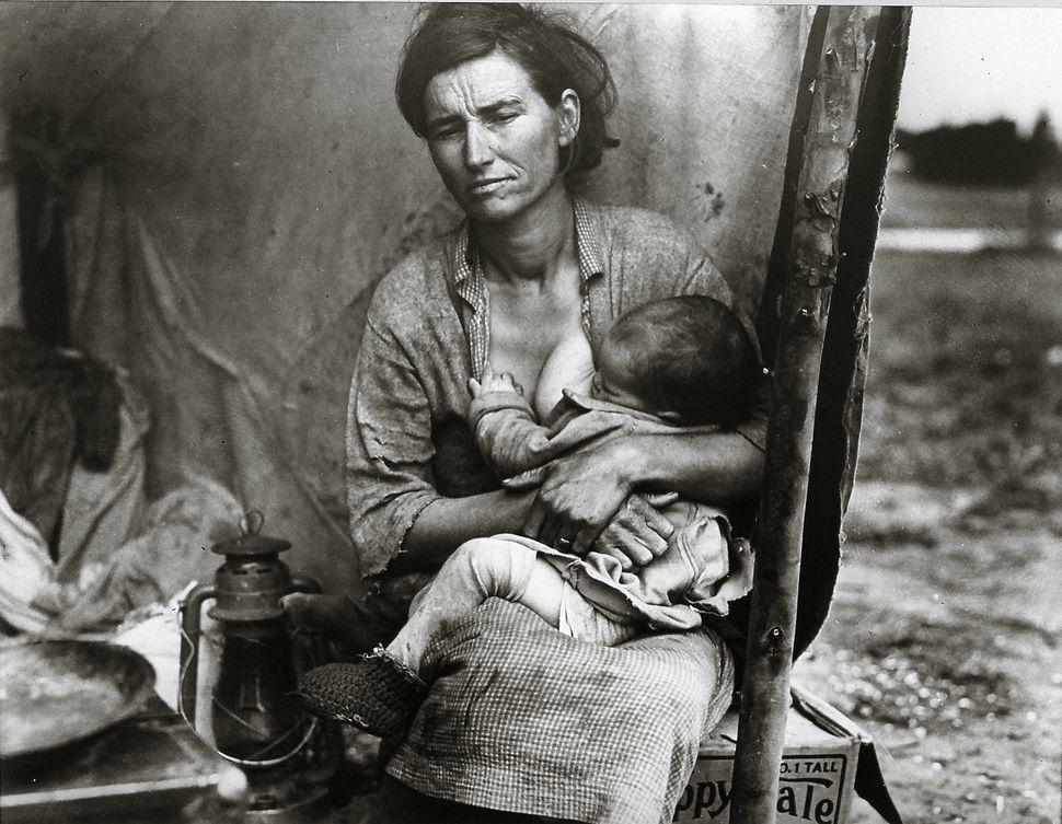 Dorothea Lange, Migrant Mother Series 3, Nipomo, California, 1936, Gelatin silver print 11 x 14 in., Collection of Martin Z.
