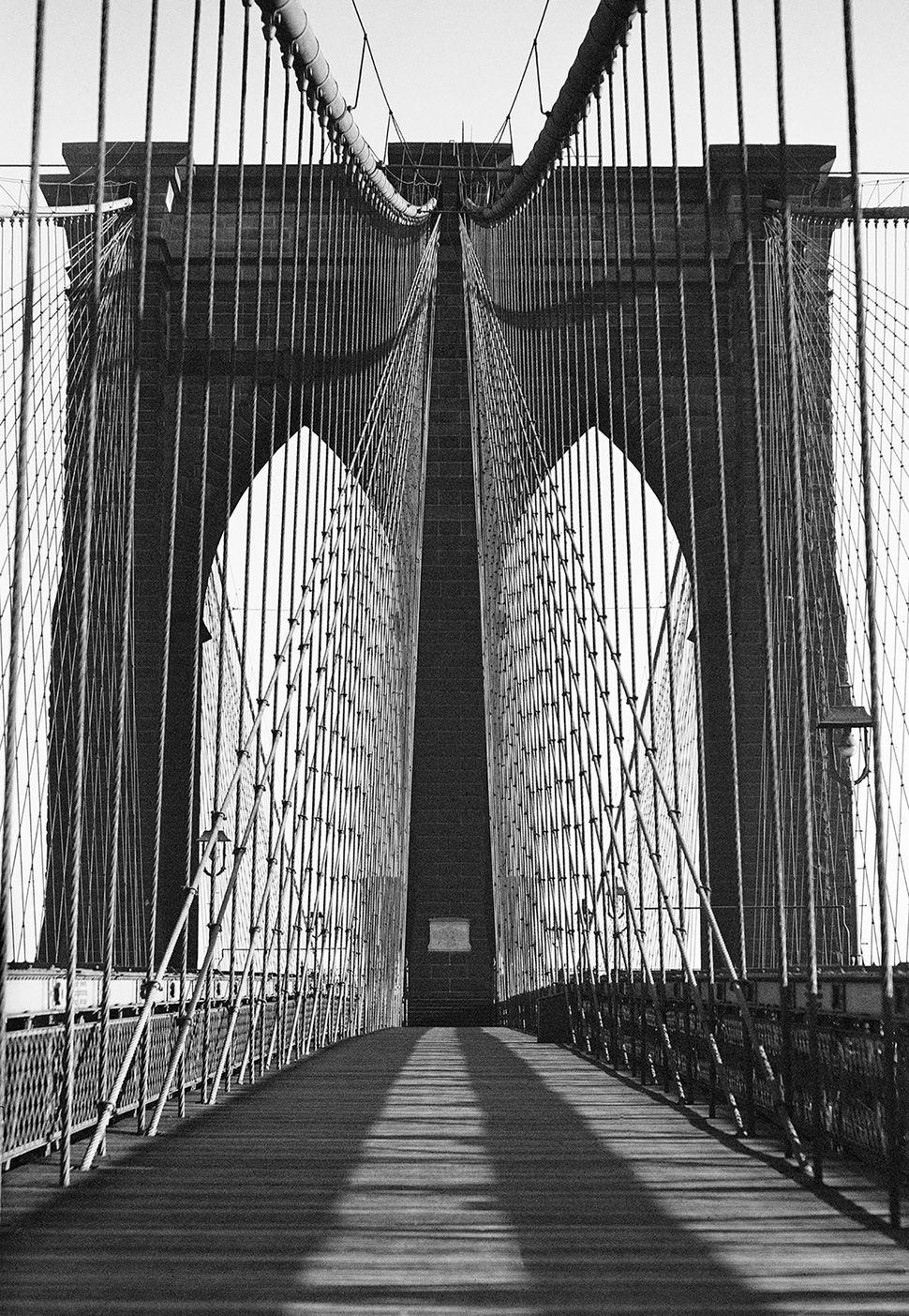 Harold Roth, Brooklyn Bridge, 1945, Gelatin silver print, Photograph courtesy of Anton A