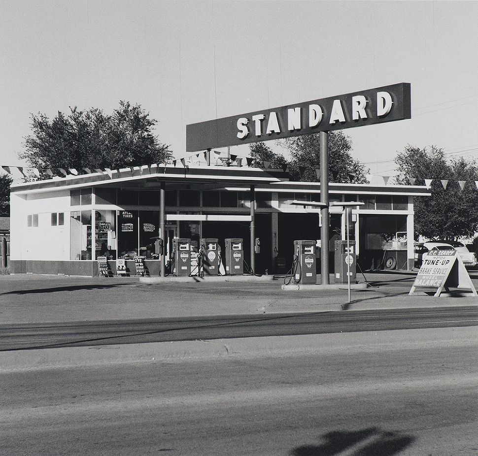 Ed Ruscha, Standard Station, Amarillo, Texas, 1962, from Twentysix Gasoline Stations, 1963, Gelatin silver print, Martin Z. M