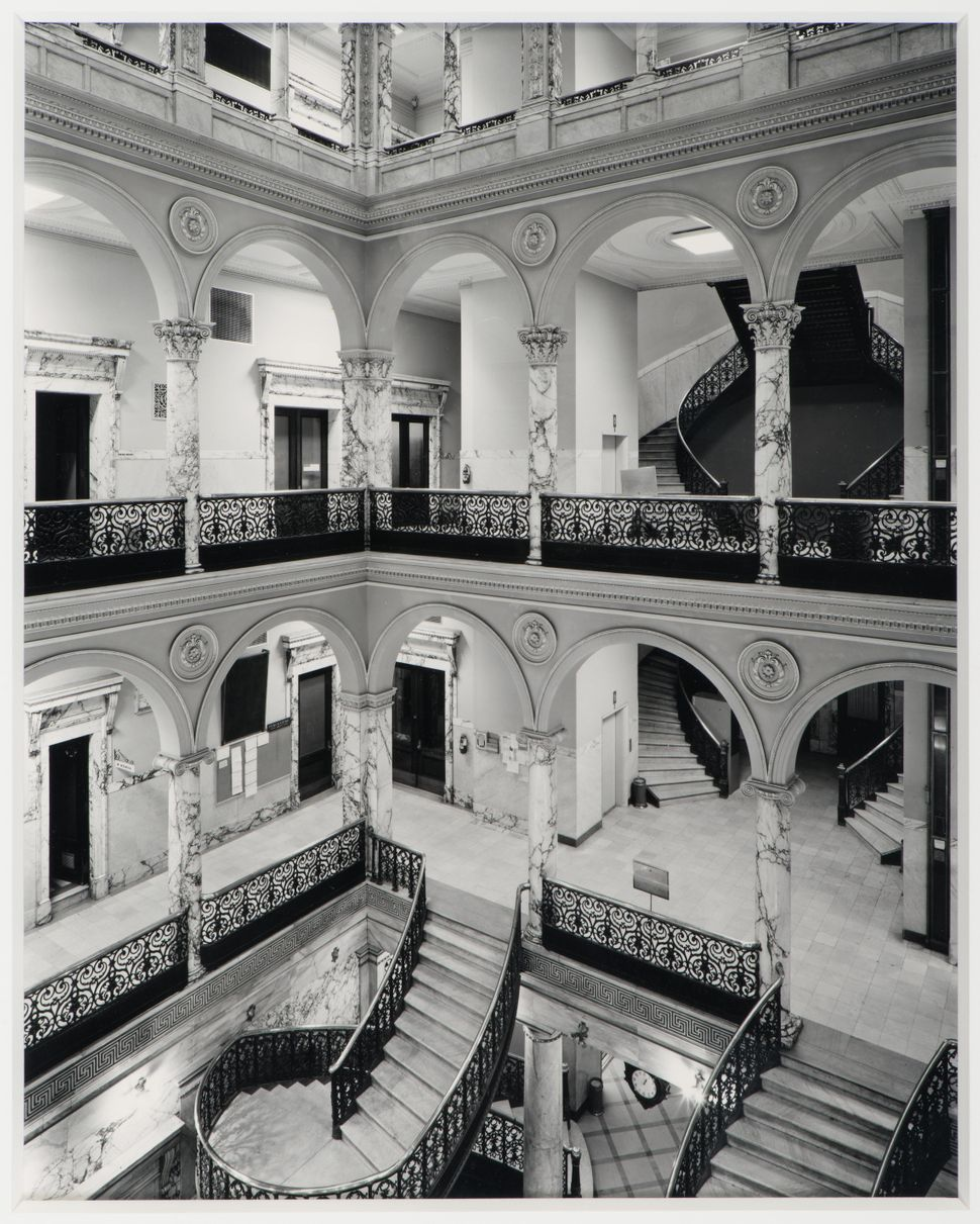 Jim Dow, Monroe County Court House, Rochester, New York, 1977 (print 1983), Gelatin silver print, 10 x 8 in., Collection of M