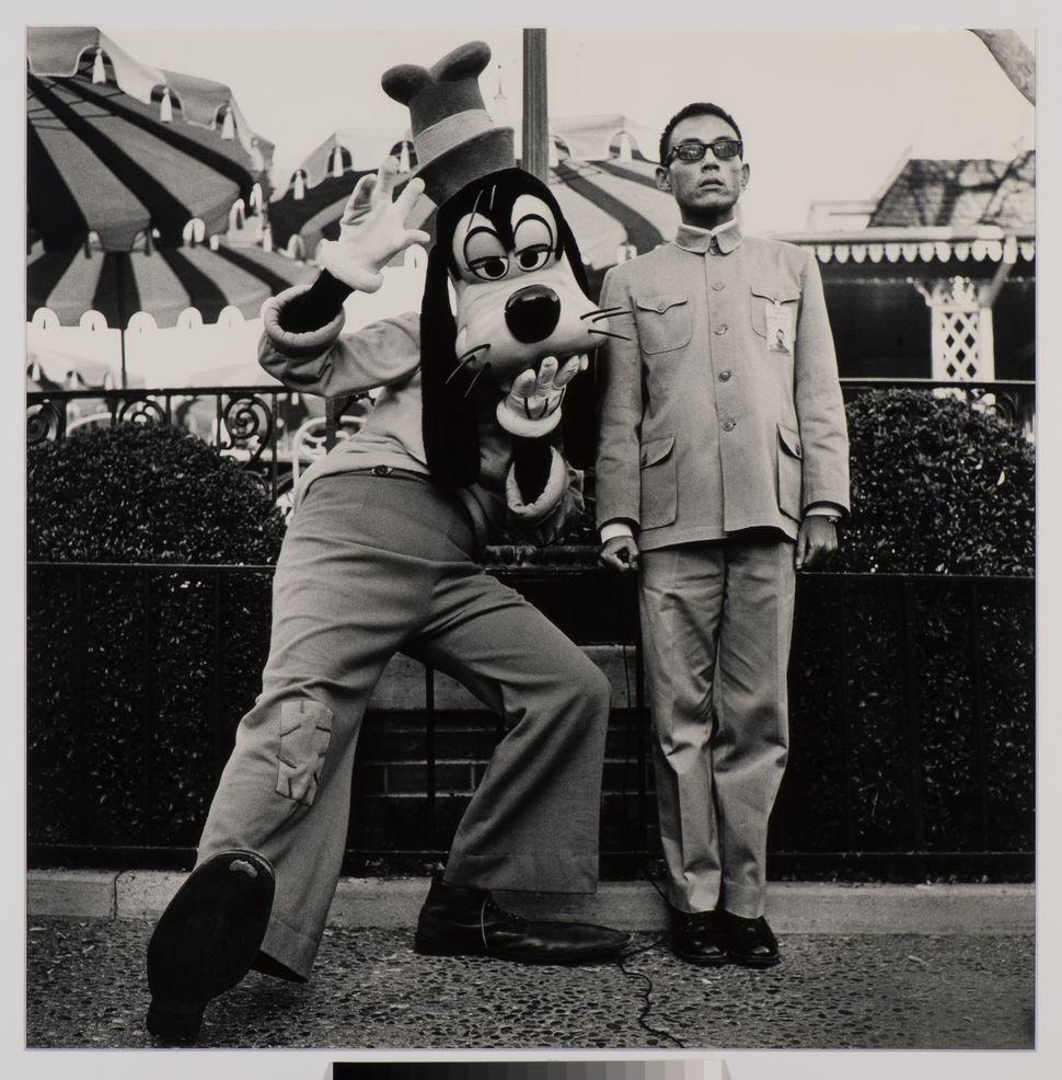 Tseng Kwong Chi Disneyland, California, 1989, Gelatin silver print (vintage) 36x36 in., Collection of Martin Z. Margulies