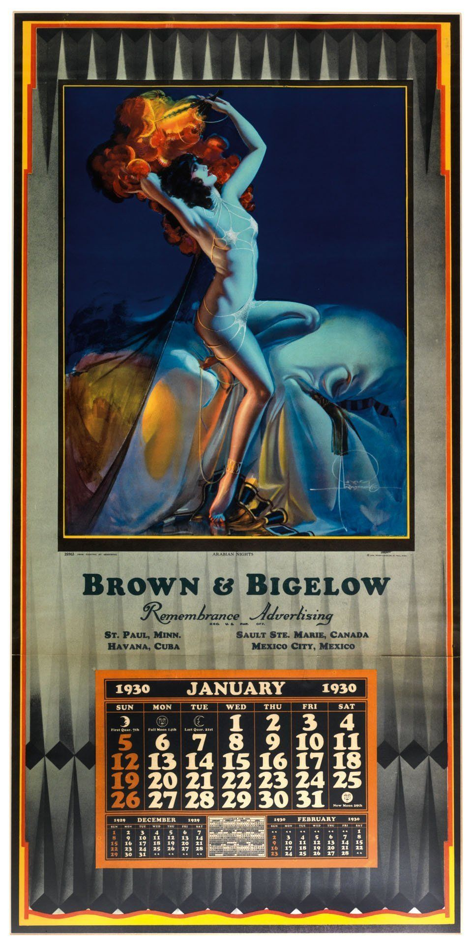 By Rolf Armstrong (c) Brown & Bigelow