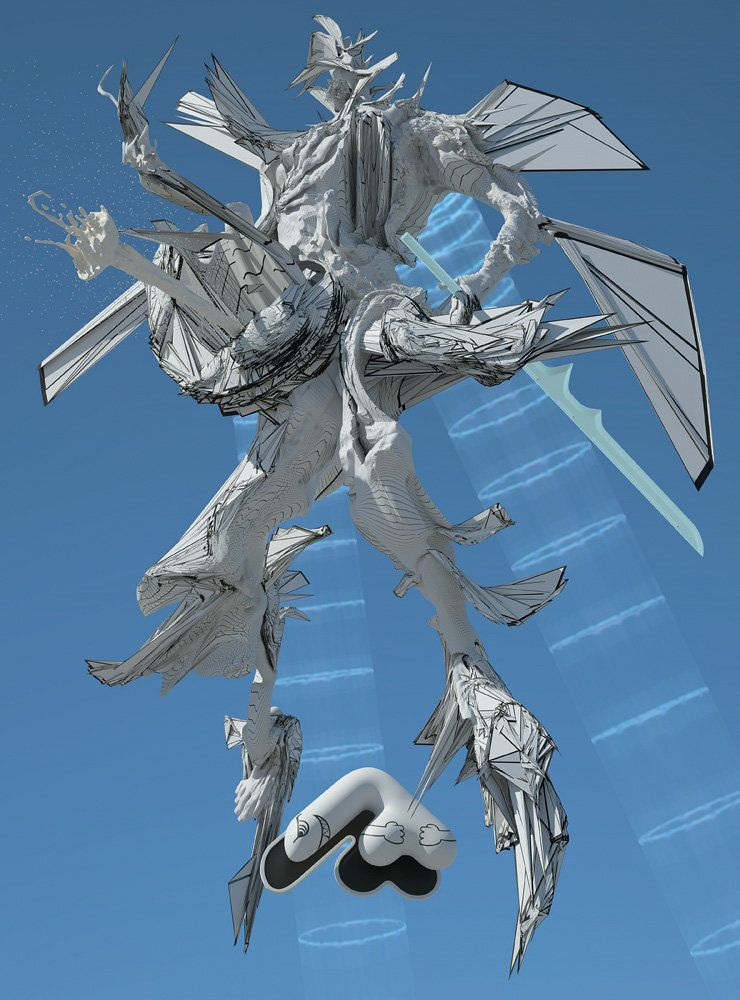 Big Gundam (Space God) 2013 90 x 66 inches edition of 3 + AP