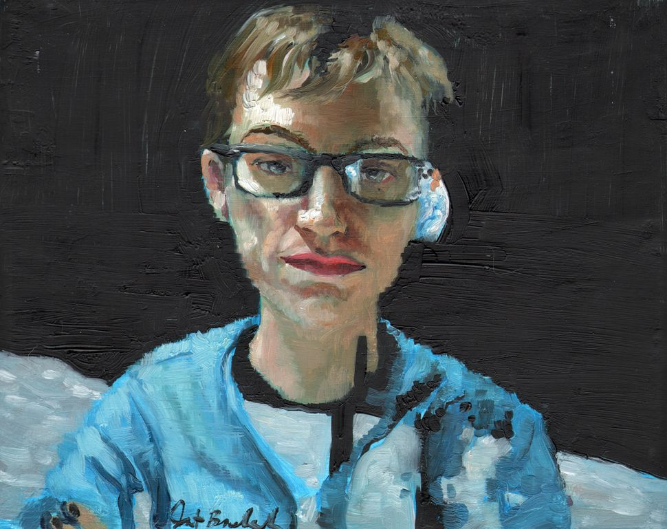 oil on panel, 8x10in, 2011. Painting of Maddie from the last series I Kickstarted, Teleportraiture (teleportraiture.com)