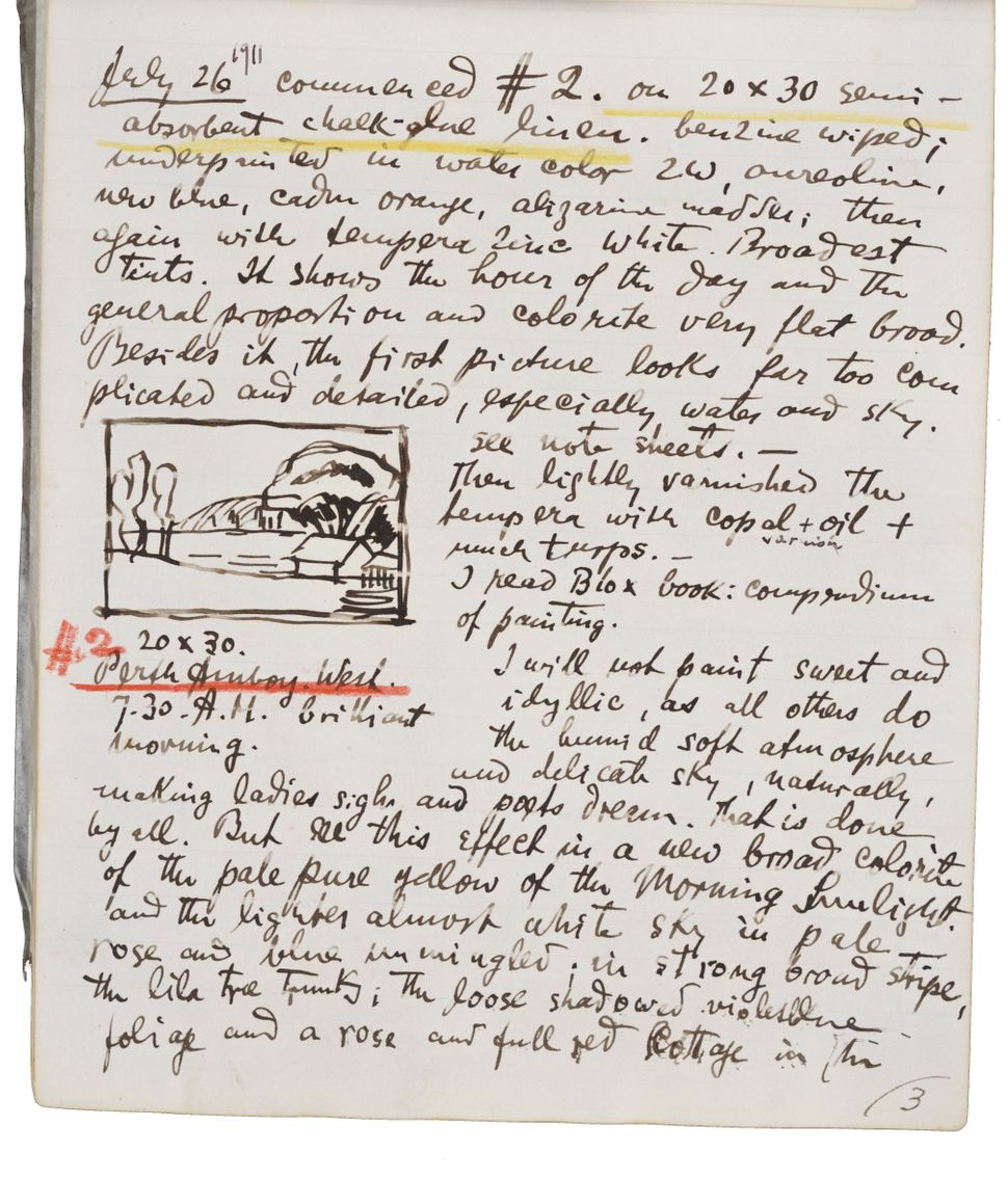 (Oscar Bluemner's painting diary, June 12, 1911 to January 30, 1912. Oscar Bluemner papers, 1886-1939. Archives of American A