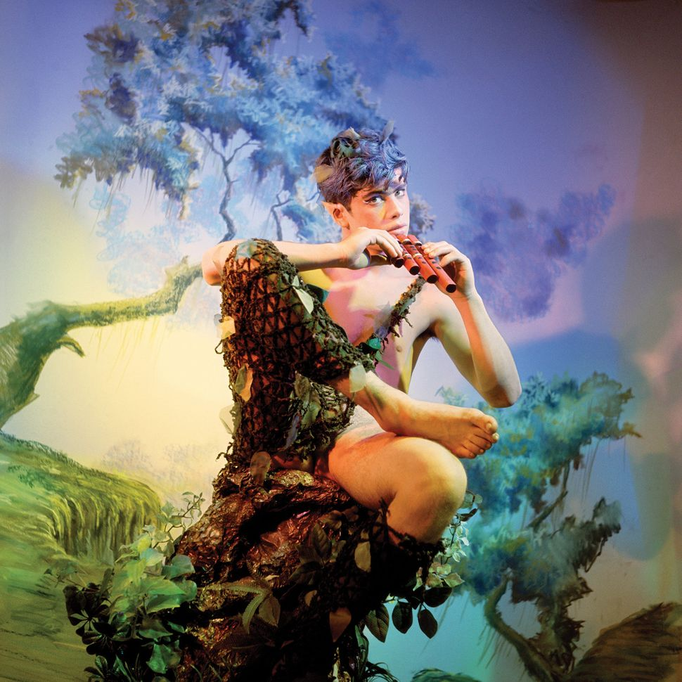 James Bidgood, Pan, 1965, C-print, 22 x 22 in., © James Bidgood, Collection of Michael Sodomick.