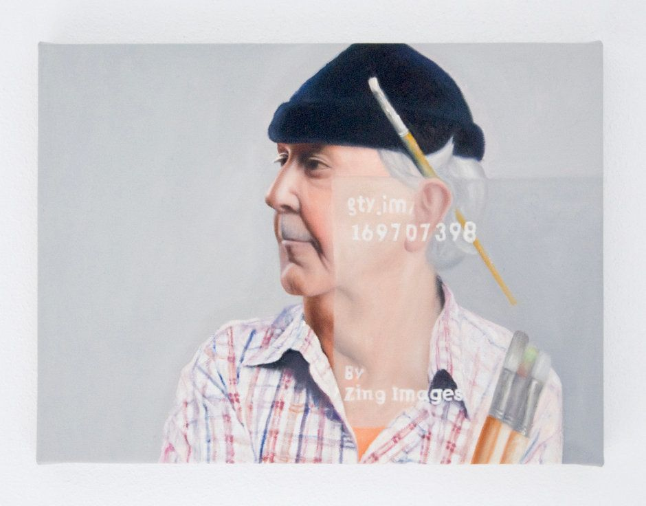 Senior male artist imagine royalty free