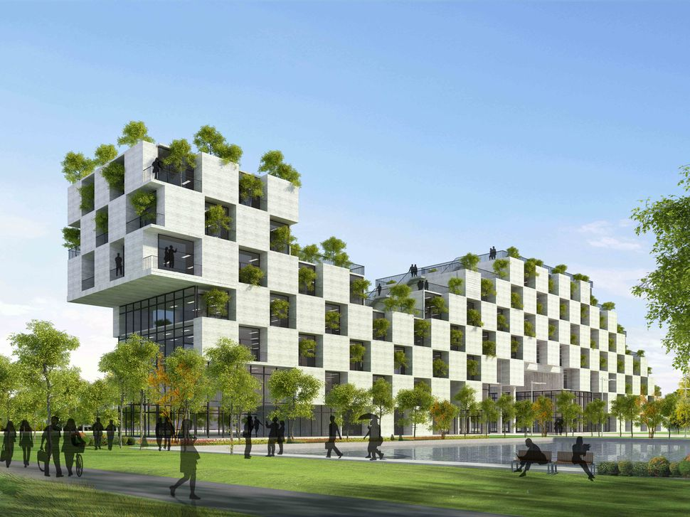 <strong>FPT Technology Building by Vo Trong Nghia Architects.</strong>  The building places a high importance on Vietnam's su