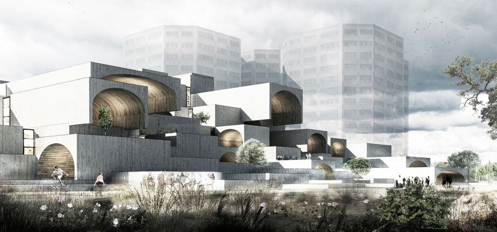<strong>Isfahan Dreamland Commercial Center by Farshad Mehdizadeh Architects.</strong> The facade design attempts to reconcil