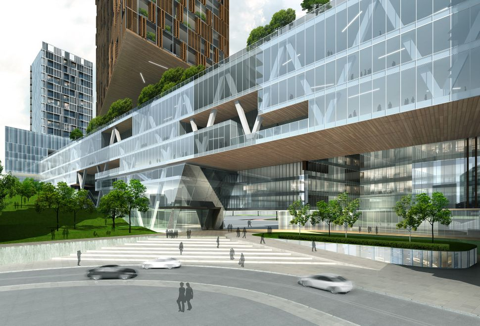 <strong>The Extension of The People's Hospital of Futian - Leigh & Orange.</strong> This hospital aims to give those inside a