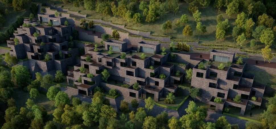 <strong>The Village by Sanjay Puri Architects.</strong> The Village is a cascade of apartments that mimics the feel of indivi