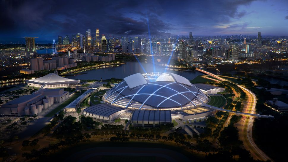 Singapore Sports Hub by Singapore Sports Hub Design Team. The Sports Hub, dubbed the first integrated sports, leisure, entert