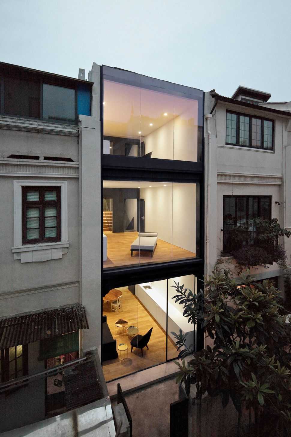 Rethinking the Split House by Neri&Hu. What was once a dilapidated lane house (a fixture of 1930s Shanghai) is now a reinvigo