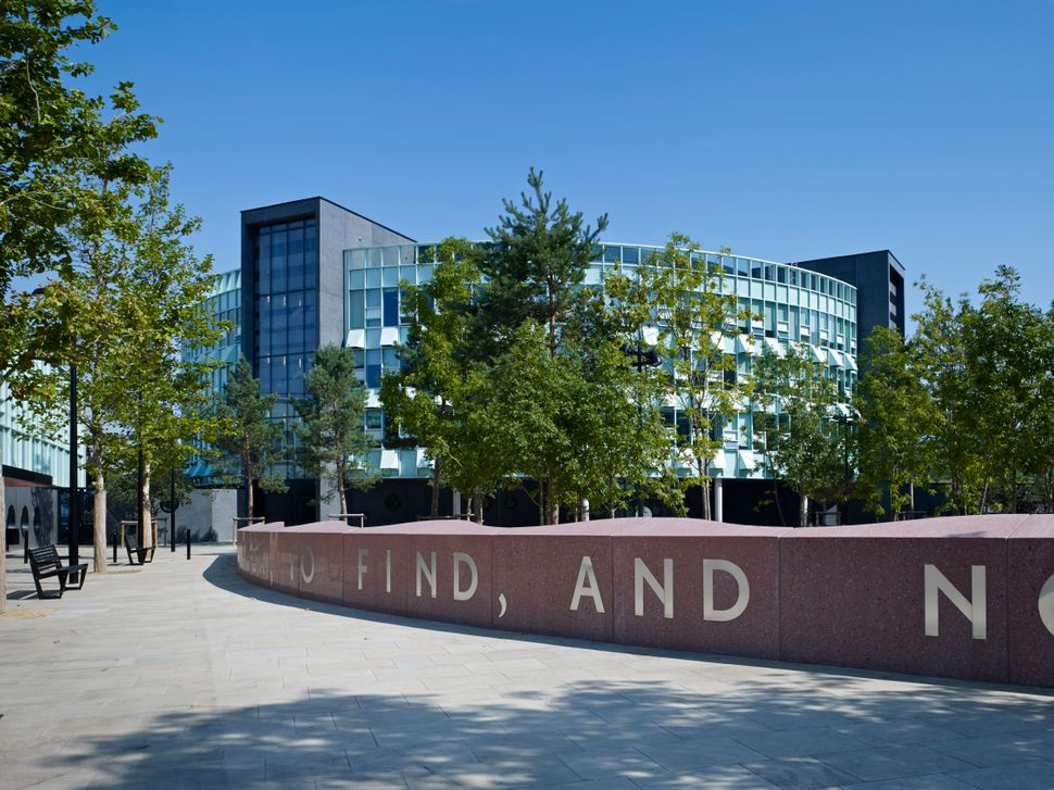Chobham Academy by Allford Hall Monaghan Morris. This is, simply, a very nice school for 1,300 students in London ages three