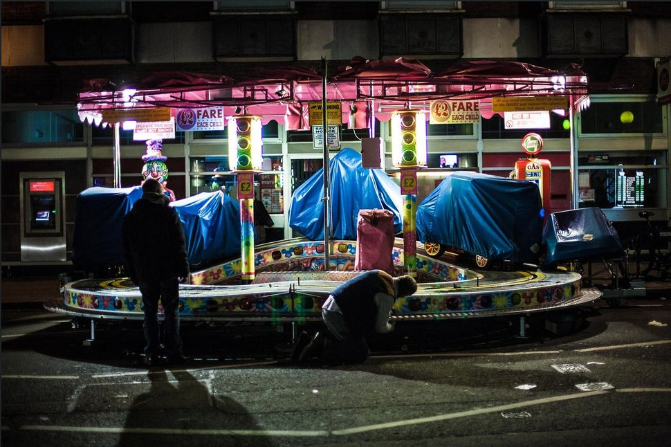 Gabriel Larmour	 British Fun Fair Goes To Bed	 The depressing truth that all things come to an end as the fun fair is tucked