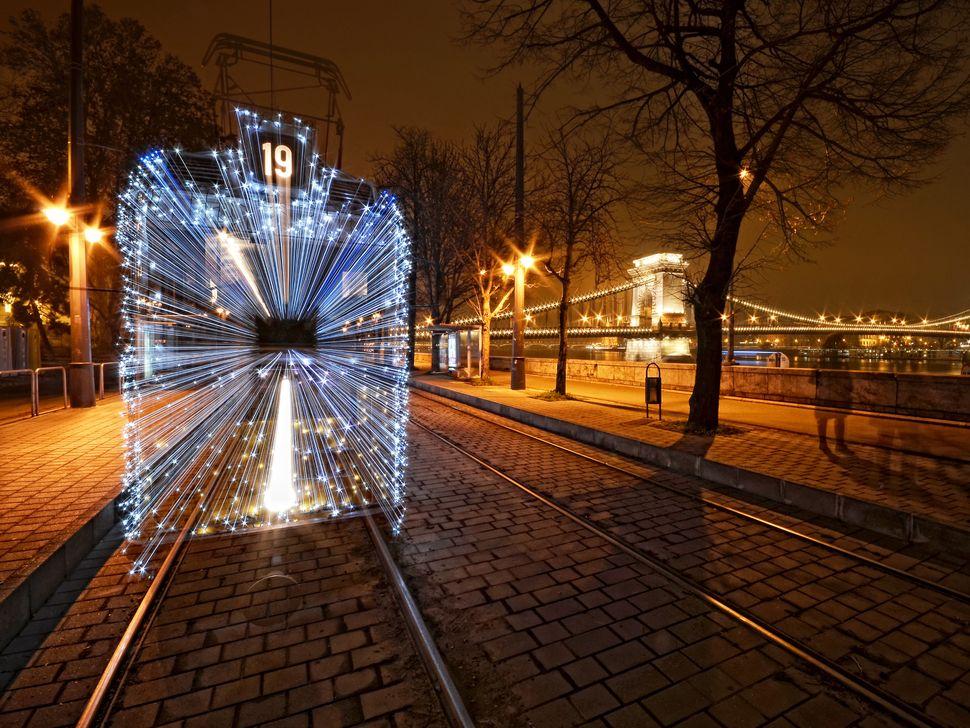 Szabolcs SimóHungarian Christmas Tram Christmas Tram on the riverside of Danube in BudapestBudapest, Hungary