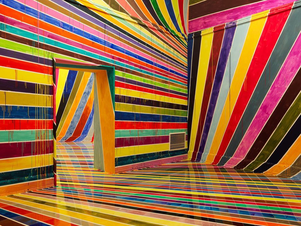 """Photo: Annette Kradisch; Exhibition View: """"Off the Wall! Image Spaces and Spatial Images"""", Kunsthalle Nürnberg, Nuremberg"""