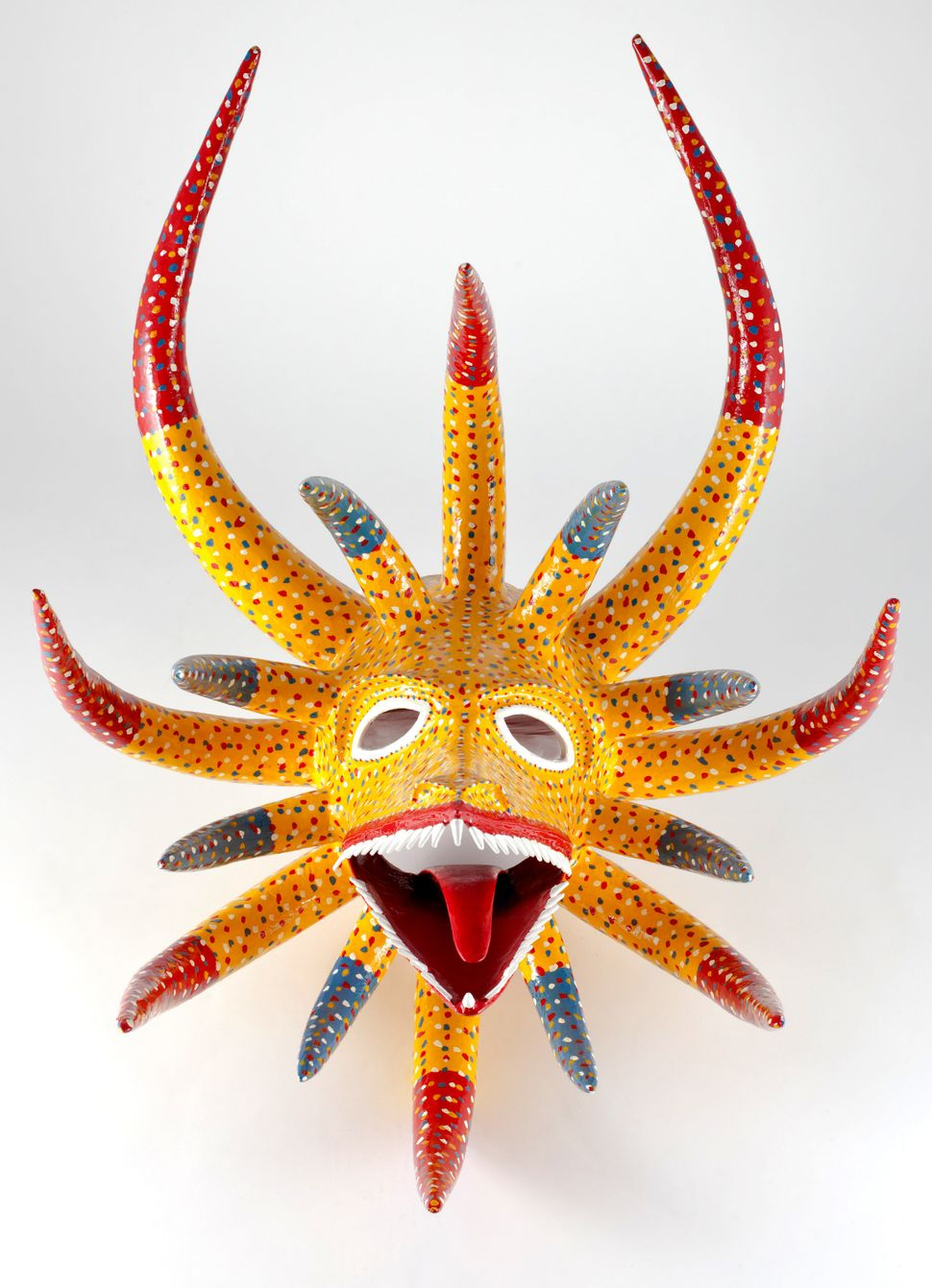 Miguel Caraballo García Mask, 2011 Molded, modeled and polychromed papier-mâché Santo Tomás, Ponce, Puerto Rico Image Courtes