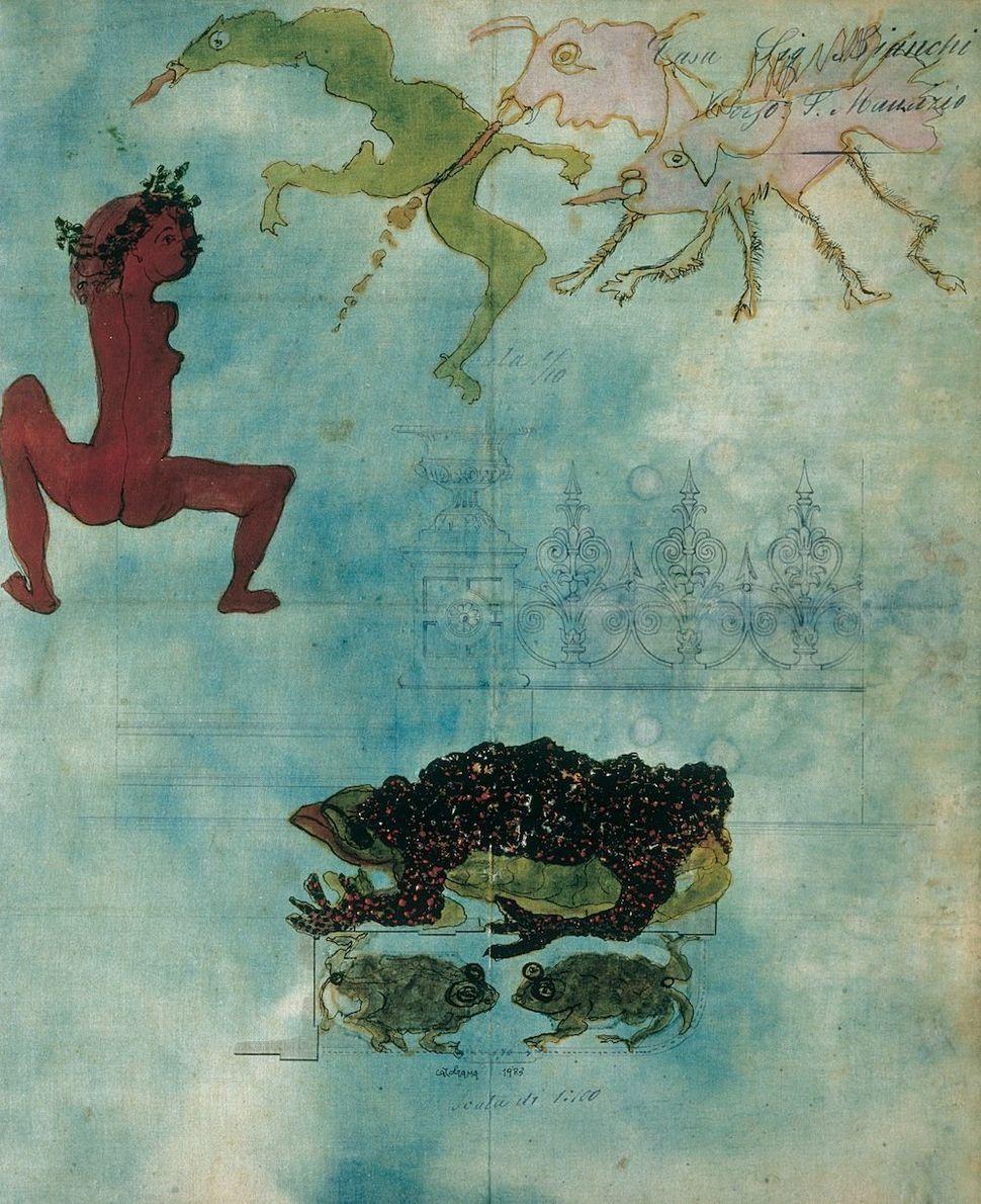 Venezie 1983 Watercolour on relined paper 38,8 x 30 cm Private Collection © Associazione Archivio Carol Rama