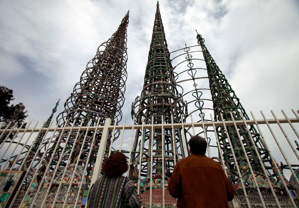 <strong>WHAT:</strong> Watts Towers consists of 17 steel and mosaic cement stucco sculptures built over a period of 34 years,