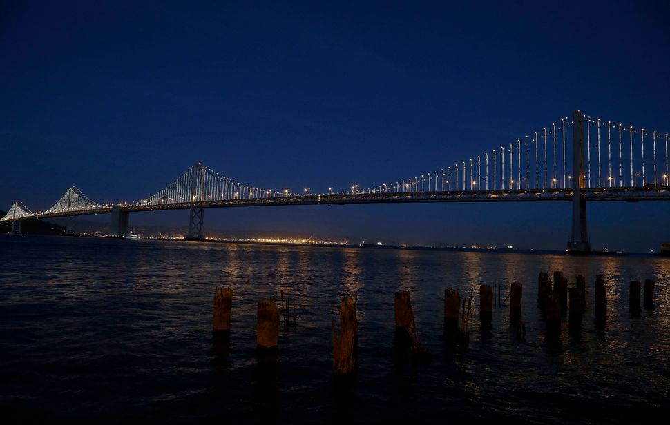 <strong>WHAT:</strong> Leo Villareal affixed 25,000 white L.E.D.s to San Francisco's Willie L. Brown Jr. Bridge, amounting to