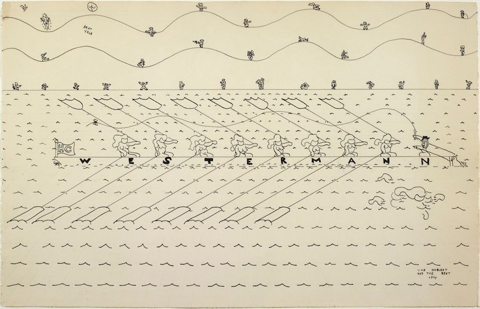 William Copley, Untitled (Westermann), 1979. © The artist. The Art Institute of Chicago, Gift of the Irving Stenn, Jr. Drawin