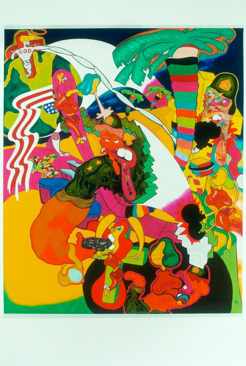 Peter Saul, Vietnam, 1966. © The artist. Collection Sally and Peter Saul.