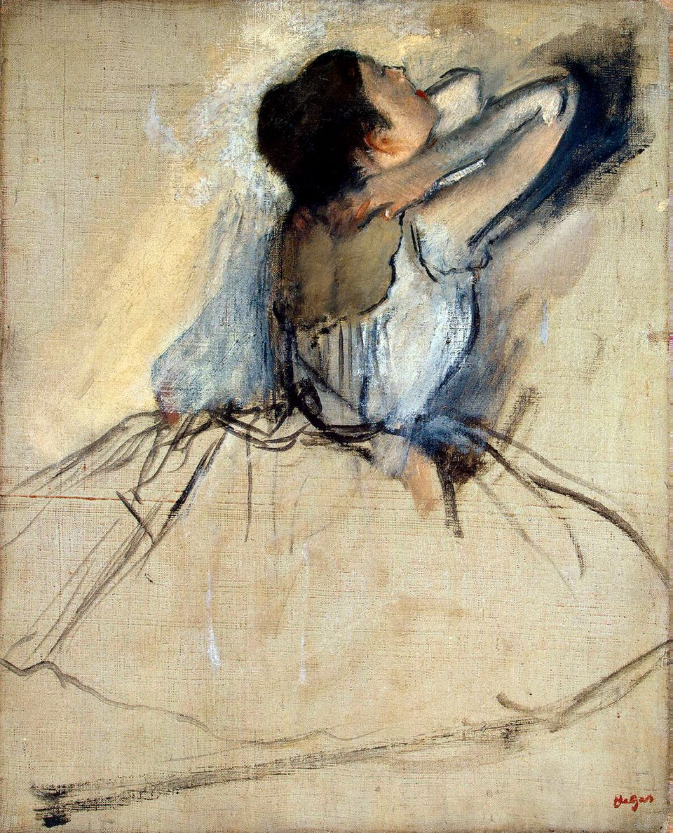 "Degas' ""Dancer,"" c. 1874. Found in the collection of the State Hermitage, St. Petersburg. (Photo by Fine Art Images/Heritage"