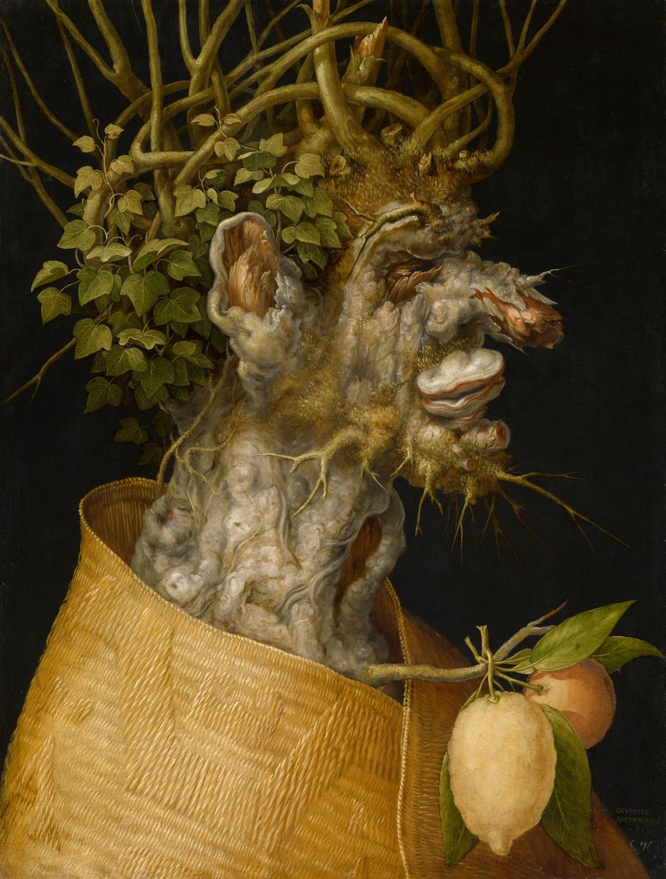 "Giuseppe Arcimboldo, ""Winter,"" 1563, Oil on panel, 66,6 cm x 50,5 cm © KHM"