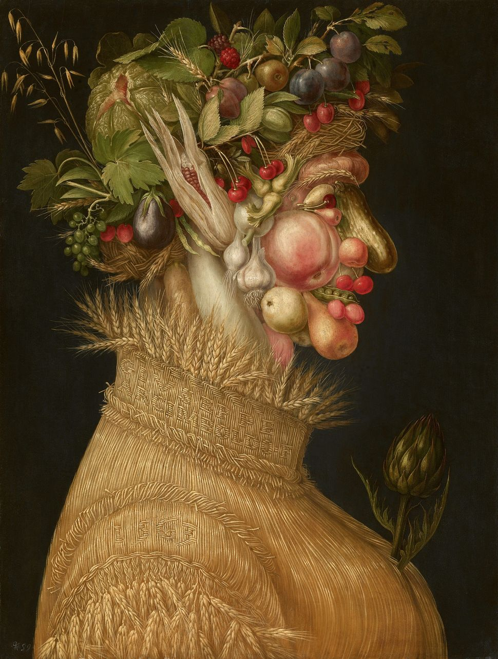 "Giuseppe Arcimboldo, ""Summer,"" 1563, Oil on panel, 67 cm x 50,8 cm © KHM"