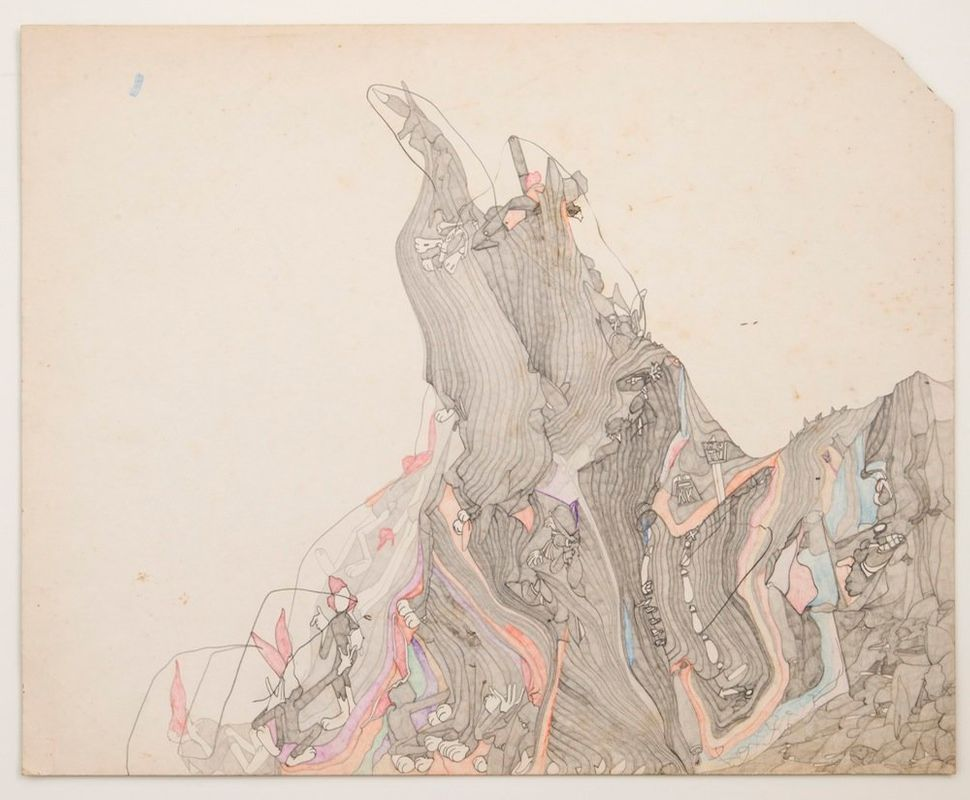 Susan Te Kahurangi King Untitled, c. 1978 Graphite and colored pencil on paper 16.5 x 20.5 inches (41.9 x 52.1 cm)