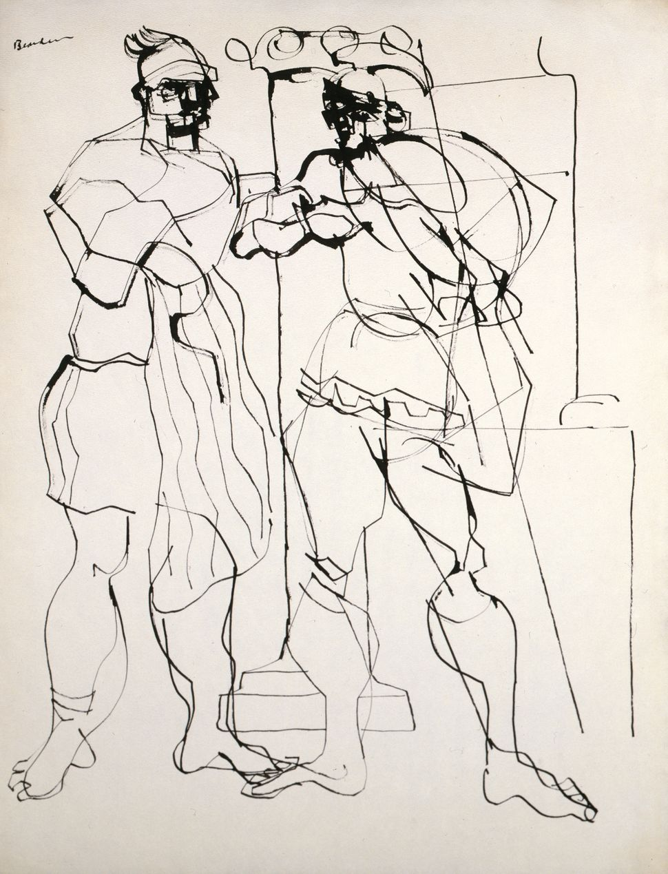Untitled From the Iliad Series Ink on paper 1946 Courtesy Estate of Nanette Bearden and DC Moore Gallery, New York