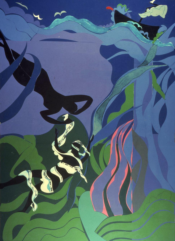 The Sea Nymph Collage 1977 Courtesy Glen and Lynn Tobias