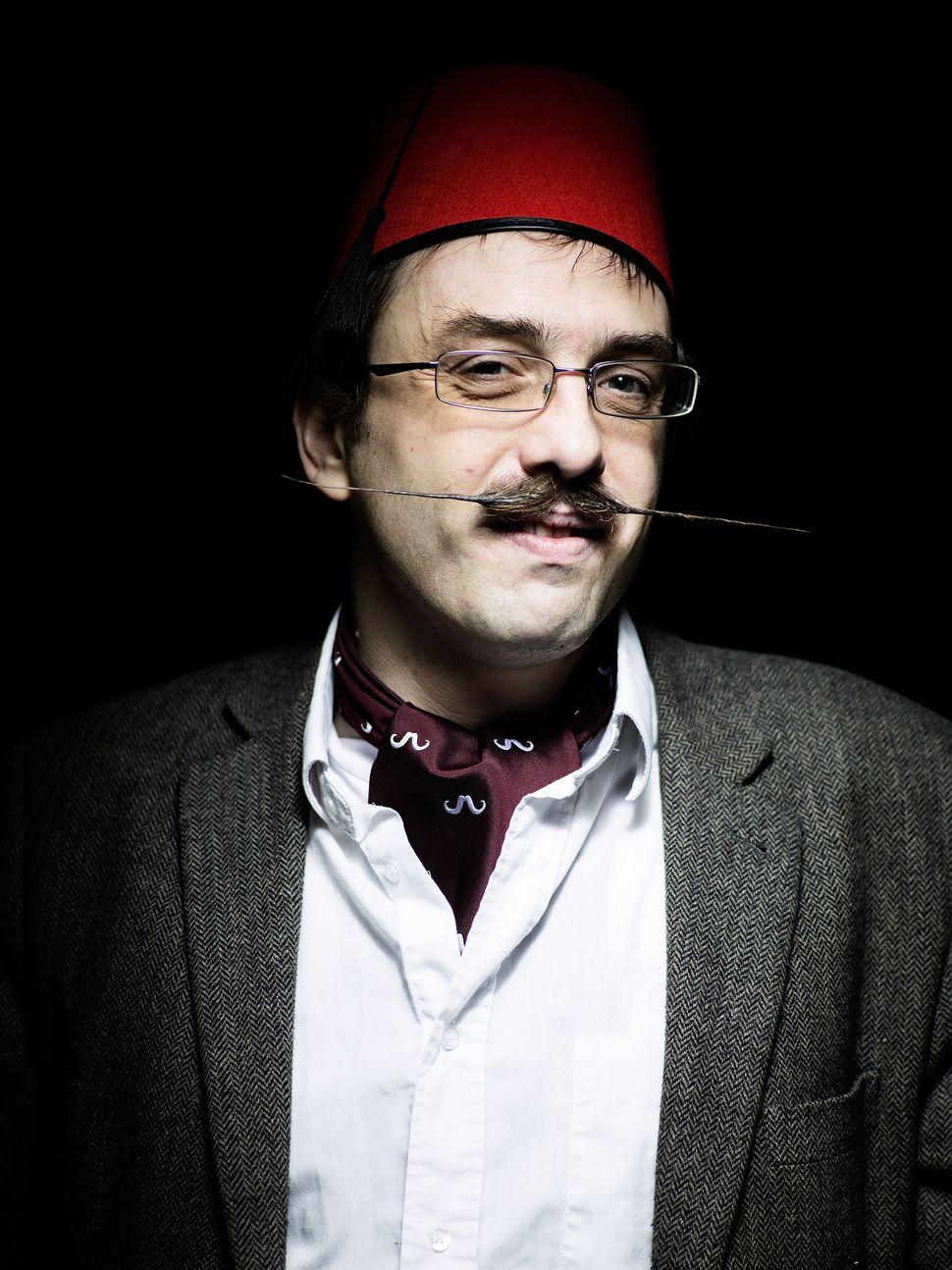 Handlebar Club member James Dyer, sporting an English moustache.