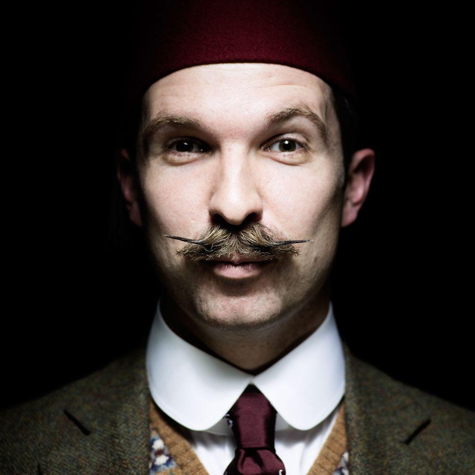Handlebar Club member Tom Carradine, sporting an English moustache.